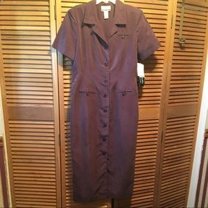 Sheri Smith Eggplant Buttoned Up Long Dress
